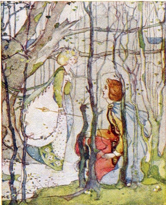 La Reina de Elfame conoce a Tomás. (Public Domain)