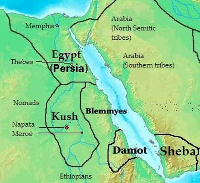 Mapa de reinos, estados y tribus del África nororiental en el 400 a. C. (CC BY-SA 3.0)