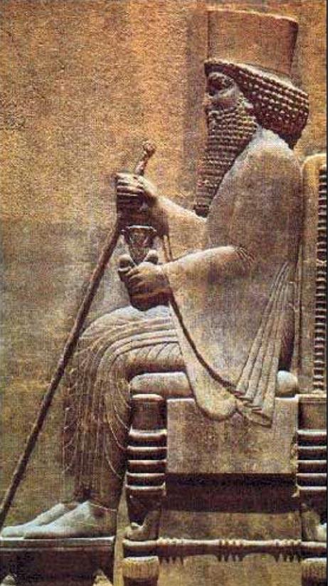 Grabado en relieve de Darío el Grande