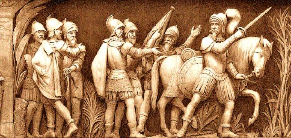 Relieve del Capitolio de Washington en el que se observa a Francisco Pizarro, conquistador del Perú, adentrándose en la jungla en busca del legendario reino de El Dorado (Public Domain)
