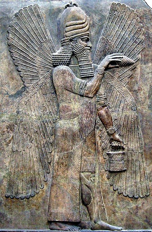 Relieve del dios Marduk en el Museo del Louvre de París, Francia. (Public Domain)