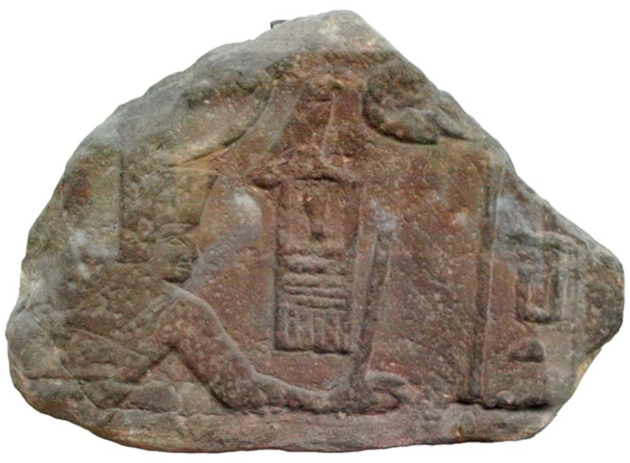 Fragmento de un relieve del faraón Sa-Nakht. Museo Británico (Wikimedia Commons)