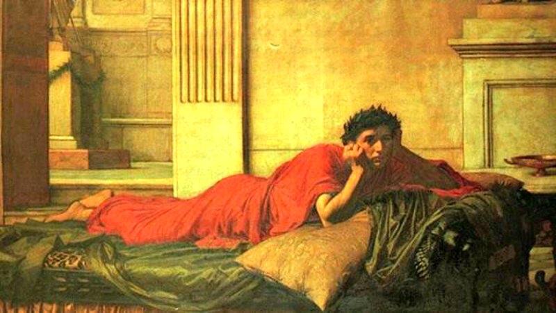 Los remordimientos de Nerón tras matar a su madre (1878), óleo de John William Waterhouse, (1849-1917). Sotheby's Collection. (Public Domain)