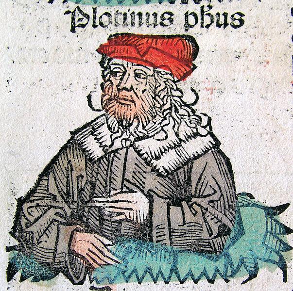 Representación medieval de Plotino. (Dominio público)
