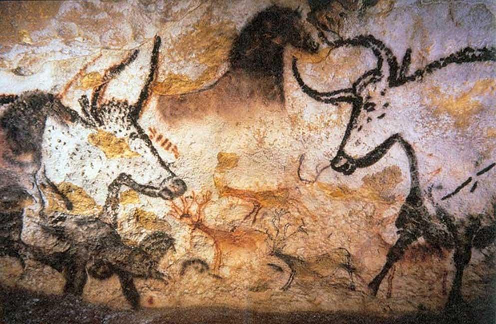Pinturas rupestres de animales en las cuevas de Lascaux. (Prof saxx/CC BY SA 3.0)