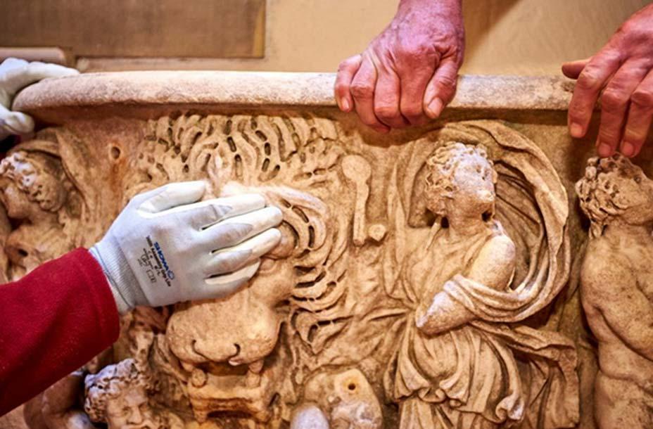 Tras los trabajos de restauración, el aspecto del antiguo sarcófago romano es realmente impresionante. (Palacio de Blenheim)