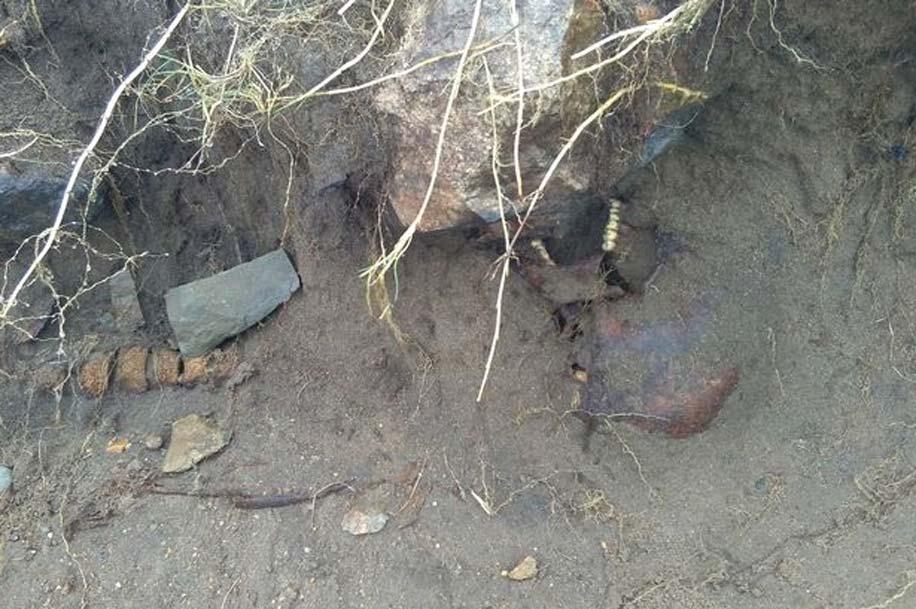 El paso del huracán Ofelia ha revelado la presencia de antiguos restos humanos, posiblemente de la Edad del Hierro. (Jim Campbell Photography)