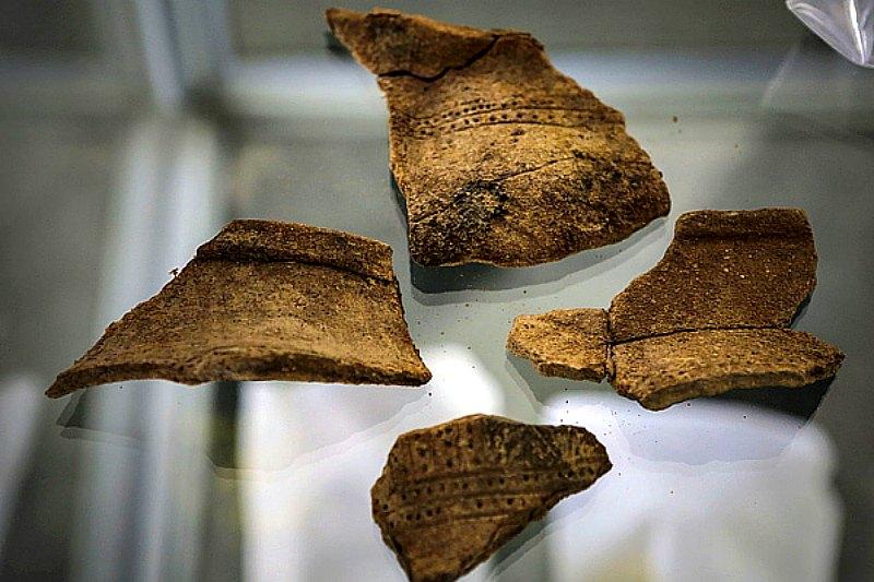 Algunas de las piezas cerámicas recuperadas a lo largo de la ruta del futuro Canal Transoceánico de Nicaragua. (Fotografía: La Nación)