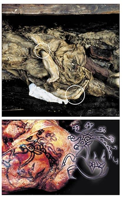 El estudio de los restos momificados de la Princesa del Hielo ha supuesto avances extraordinarios en nuestra comprensión de la rica e ingeniosa cultura Pazyryk. Fotografías: Alexander Tyryshkin, Instituto de Arqueología y Etnografía, Departamento Siberiano de la Academia Rusa de Ciencias.