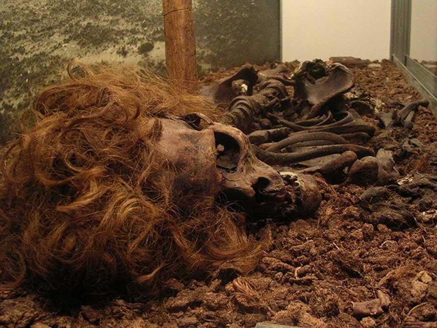 Restos óseos del Hombre de Bocksten (CC BY 2.0)