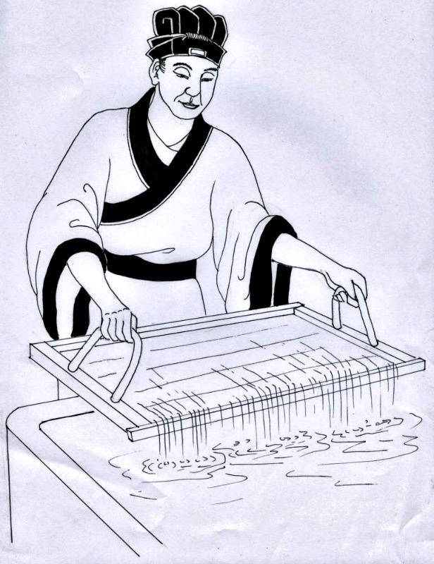 Retrato de Cai Lun, el genial inventor del papel (La Gran Época/Jade)