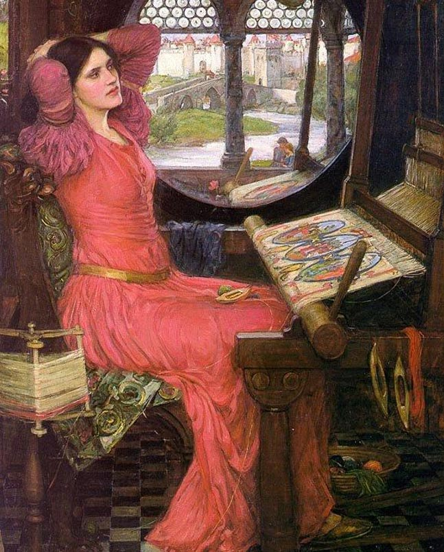 """Estoy cansada de ver sombras"", dijo la Dama of Shalott. Autor: John William Waterhouse. 1915. (Wikimedia Commons)"