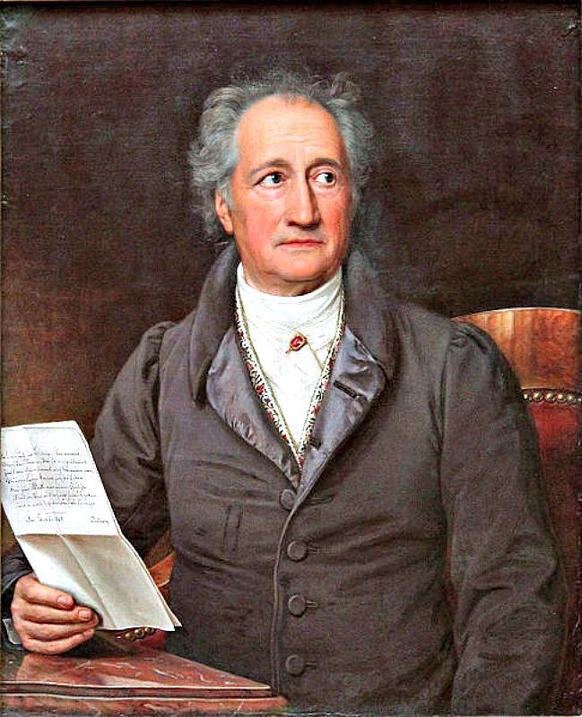 Retrato de Johann Wolfgang von Goethe (1828). Óleo del pintor Joseph Karl Stieler (1781-1858). Pinacoteca Neue de Munich, Alemania. (Public Domain)