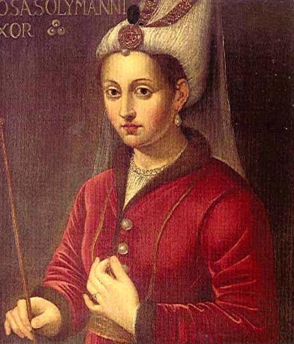 Hürrem Sultán, esposa de Solimán el Magnífico. Retrato al óleo del siglo XVI (Public domain)