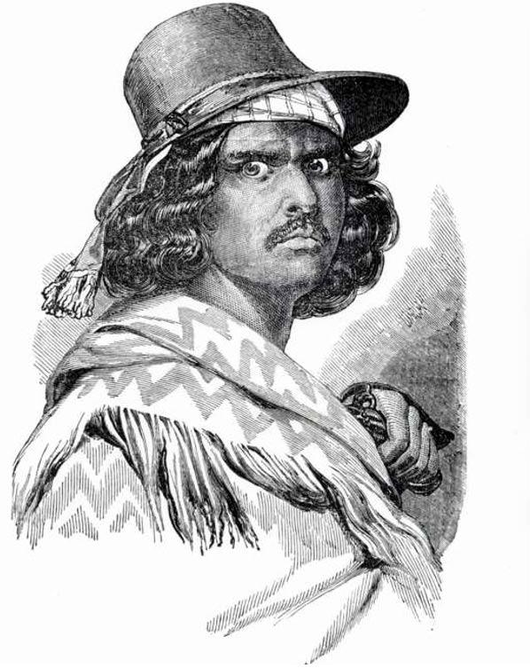 Retrato de Murrieta (Public Domain)