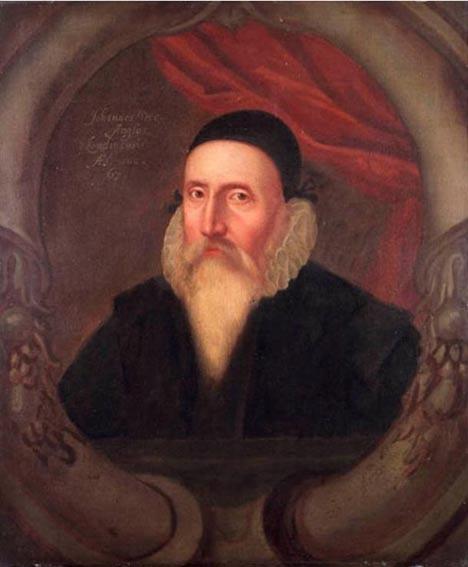 Retrato de John Dee del siglo XVI obra de un artista desconocido. Museo Marítimo Nacional de Greenwich. (Public Domain)