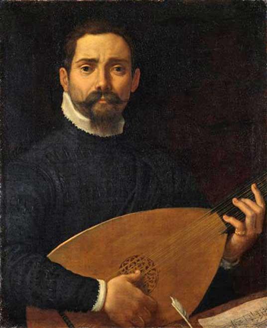 'Retrato de un laudista' (c. 1600), óleo de Annibale Carracci. (Dominio público)
