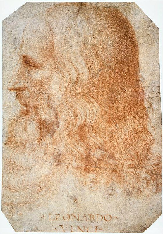 Se cree que Leonardo Da Vinci empezó a pintar la Mona Lisa entre los años 1503 y 1517, durante su estancia en Florencia, y que luego la terminó en Francia. En la imagen, retrato de Leonardo, obra de su discípulo Francesco Melzi (1493-1570), Colección de la Royal Library de Windsor. (Public Domain)