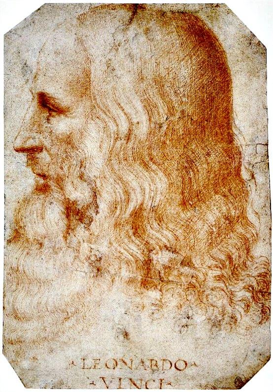 Retrato de Leonardo posterior al año 1510, realizado en sanguina sobre papel por su discípulo Francesco Melzi (1493-1570). Biblioteca Real de Windsor, Inglaterra. (Public Domain)