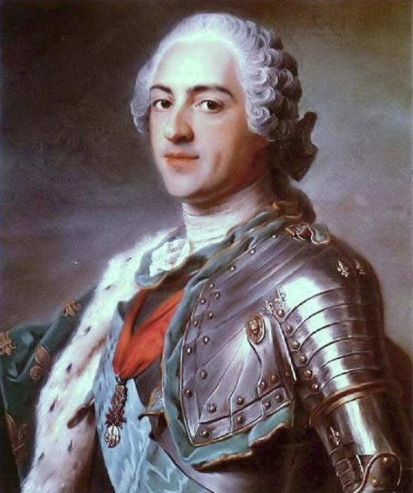 El rey Luis XV de Francia confiaba totalmente en St. Germain. Pintura de Maurice Quentin de La Tour (1748). (Dominio público)