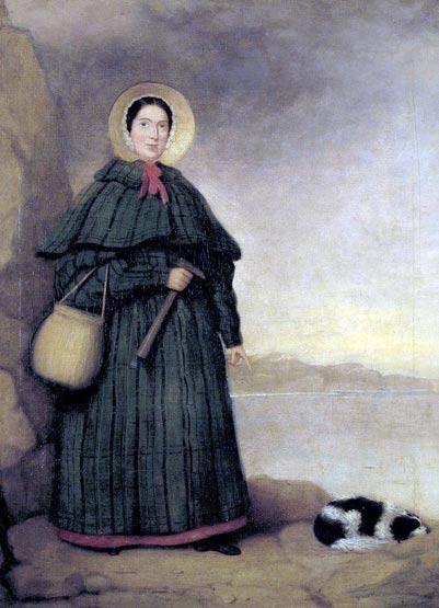 Retrato de Mary Anning, coleccionista de fósiles y paleontóloga inglesa (Public Domain)