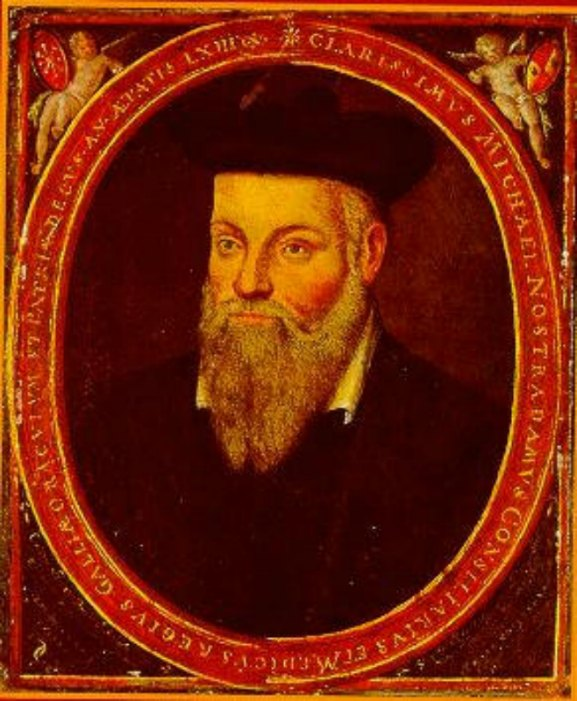 Retrato original de Michel de Nôtre-Dame, pintado por su hijo César en torno al año 1614. (Public Domain)