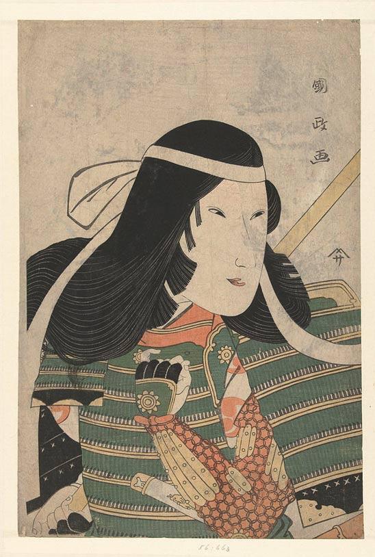Tomoe era una mujer atractiva y una intrépida guerrera. Retrato de Utagawa Kunimasa (Japón, 1797). (Wikimedia Commons)