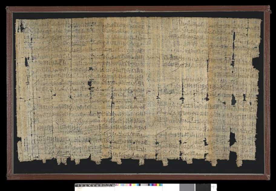 Reverso del Papiro Salt 124. (Fideicomisarios del Museo Británico/CC BY NC SA 4.0)