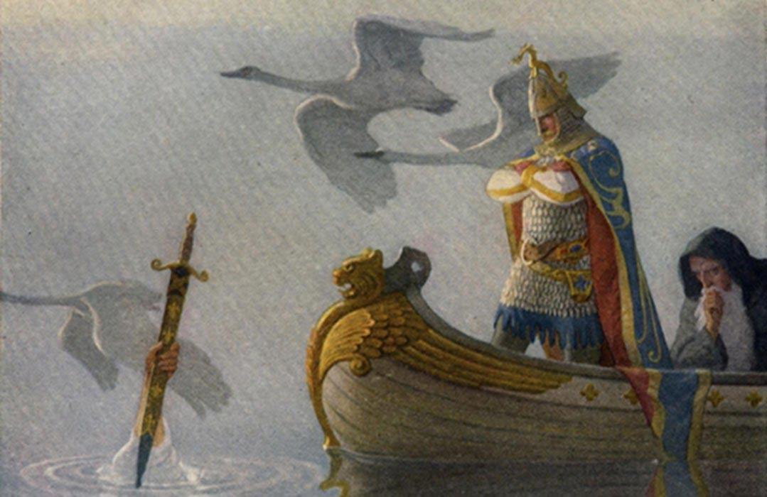 Ilustración de la página 16 de 'The Boy's King Arthur.' (Public Domain)