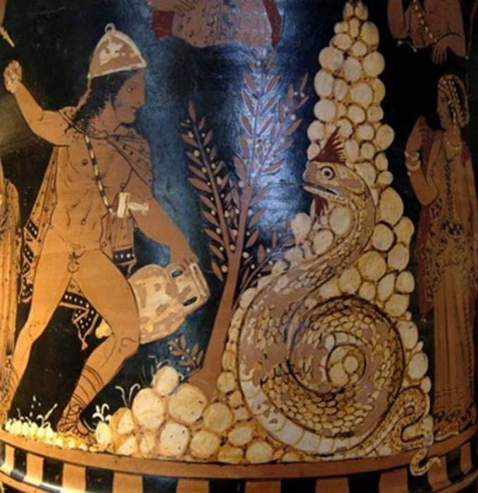 Cadmo, el rey de Tebas que según la mitología griega creó el oricalco. (Public Domain)