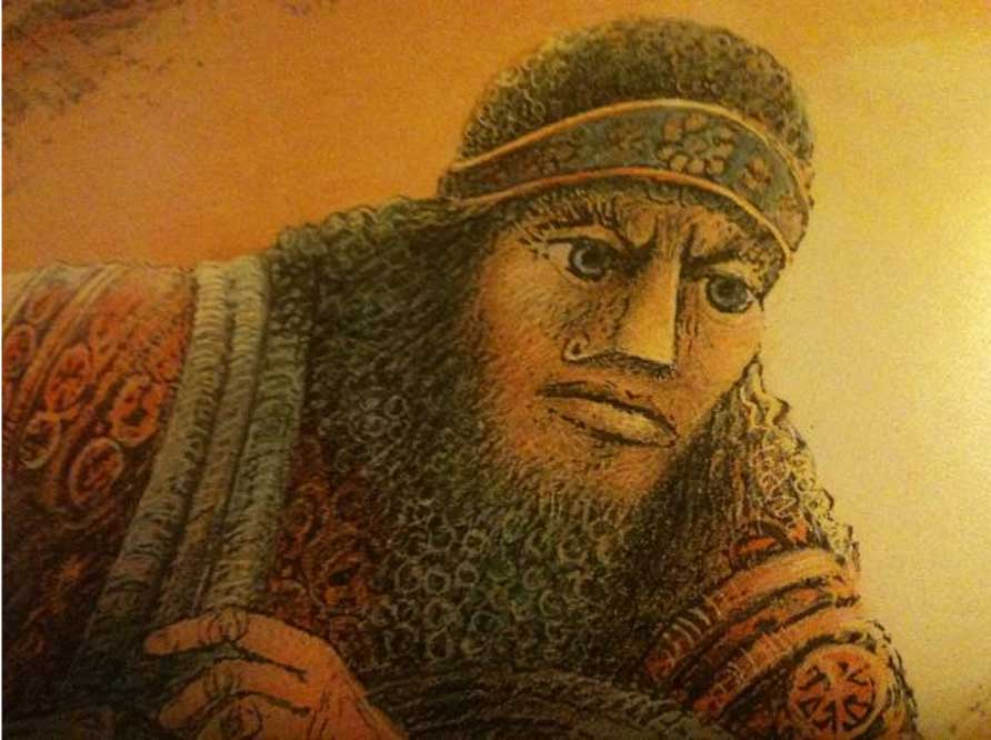 Representación artística del rey Gilgamesh. (King Gilgamesh)