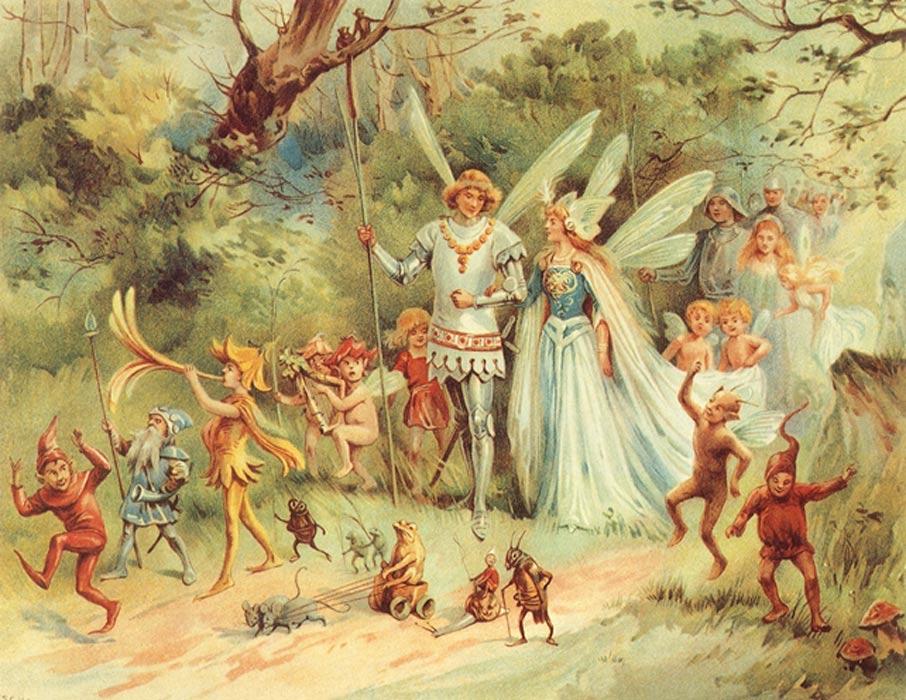 """""""La llegada del Rey y la Reina de las Hadas"""" – E. Stuart Hardy. (CC BY NC 2.0)"""