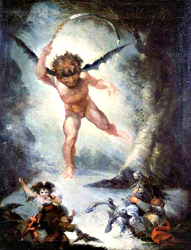 Robin Goodfellow-Puck (1787-1790), óleo de Henry Fuseli (Wikimedia Commons)