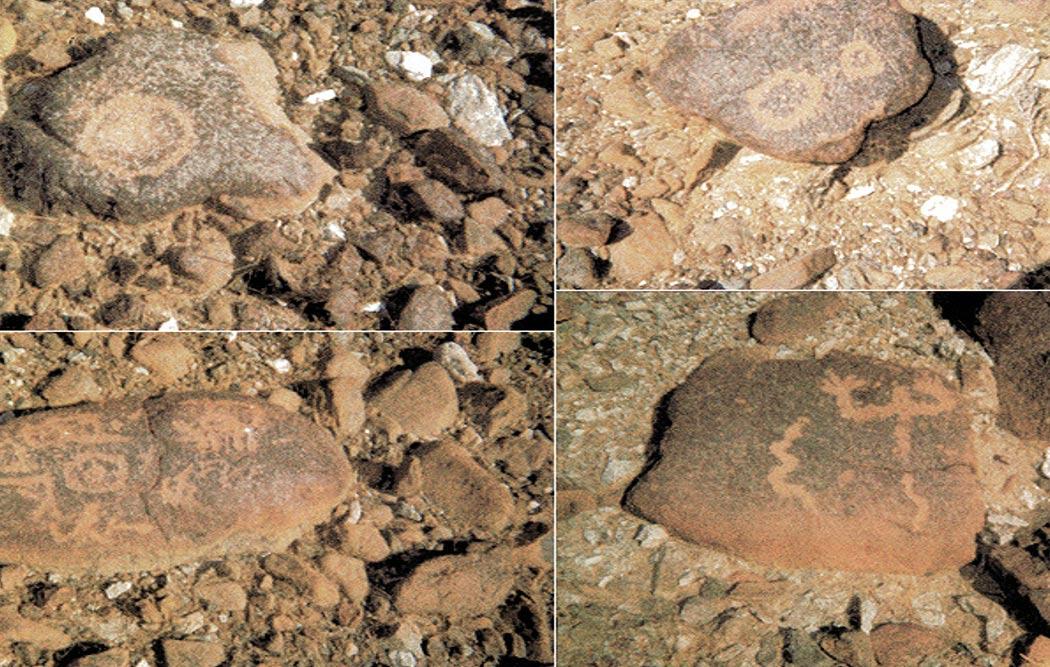 Arte rupestre en los montes Hajar. Fotos: Bradshaw Foundation