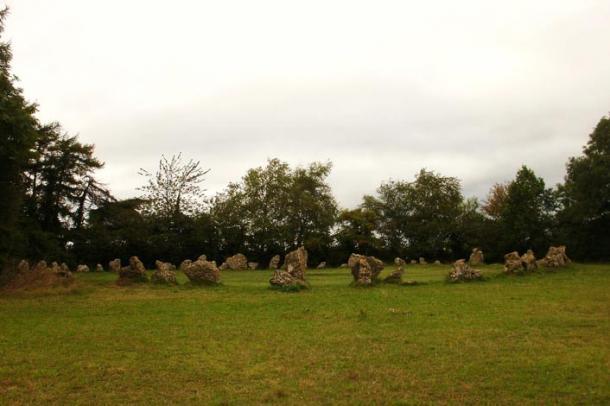 El círculo de piedras de los Hombres del Rey en las Piedras de Rollright (Foto: Midnightblueowl/Wikimedia Commons)