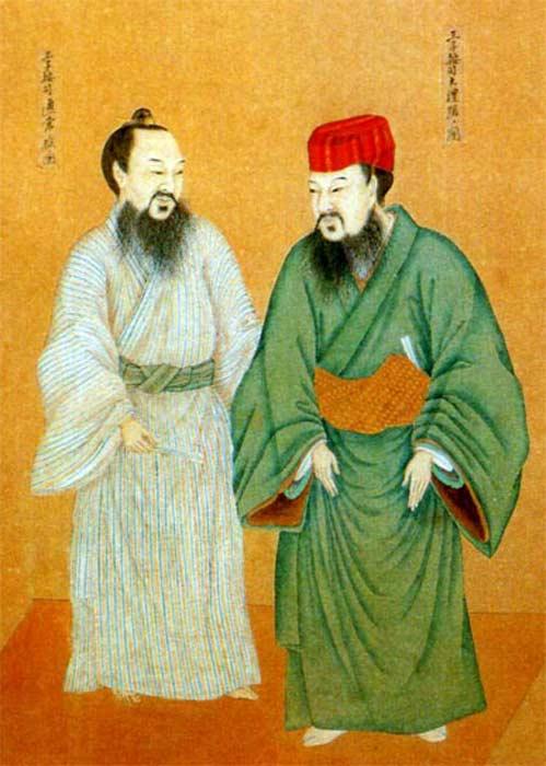 Ropas de los Oji y los Aji en el antiguo reino de Ryūkyū. (Public Domain)