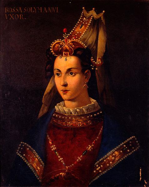 Retrato de Roxelana (Hurrem Sultán) titulado 'Rossa Solymannı Vxor.' (Public Domain)