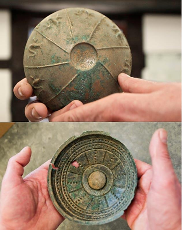 Dos de los objetos de la Edad del Bronce hallados en Lubusz. (PAP)