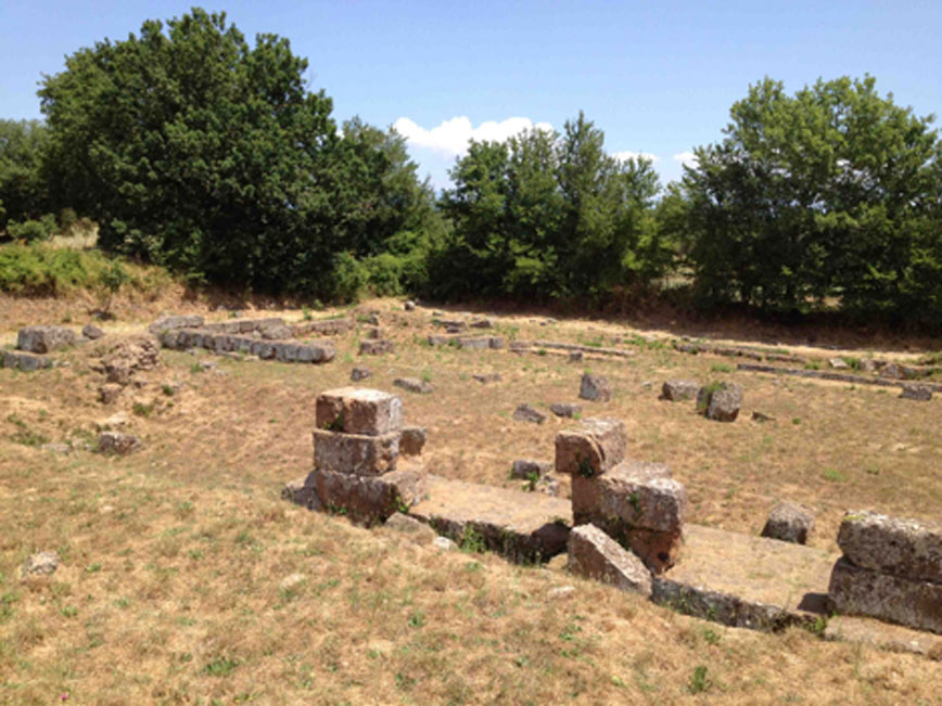 Yacimiento arqueológico de Falerii Novi, Italia. (Camminare nella storia blog)