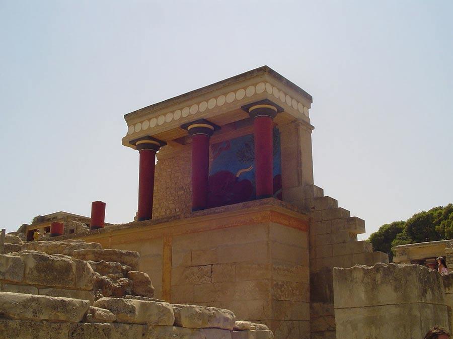 Ruinas del palacio de Knossos (Fotografía de Lars Larson/Wikimedia Commons)