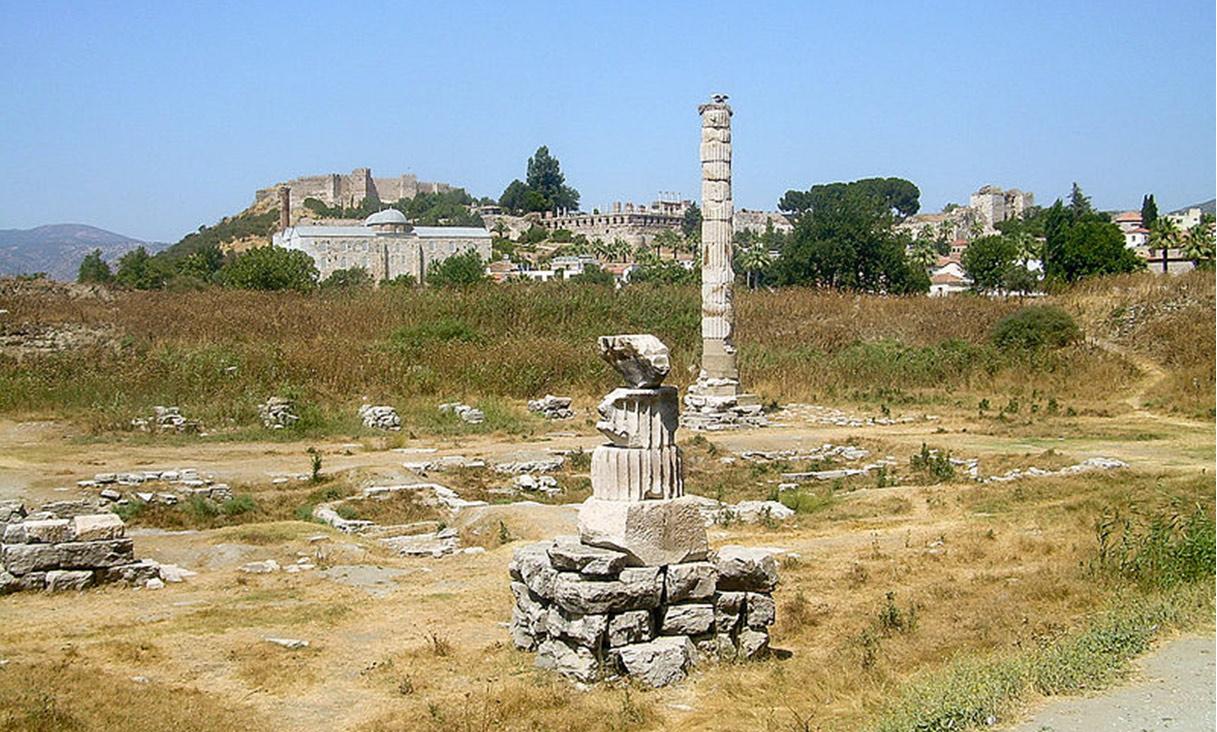 Ruinas del Templo de Artemisa en Éfeso (Wikimedia Commons)