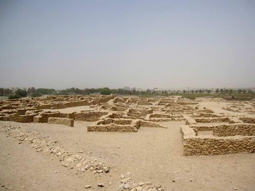 Ruinas del templo de Saar, datado en la época Dilmún de la historia de Bahréin. (Public Domain)
