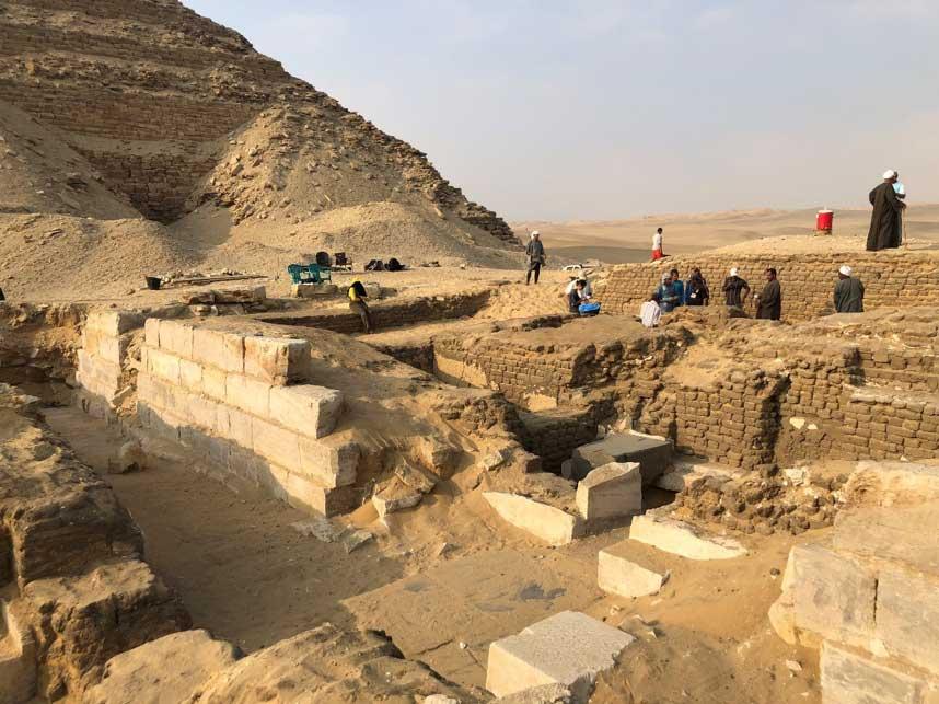 Ruinas de la tumba de Kaires, cercana al Campo de Pirámides de Abusir, Egipto. (Imagen: Instituto Checo de Egiptología)