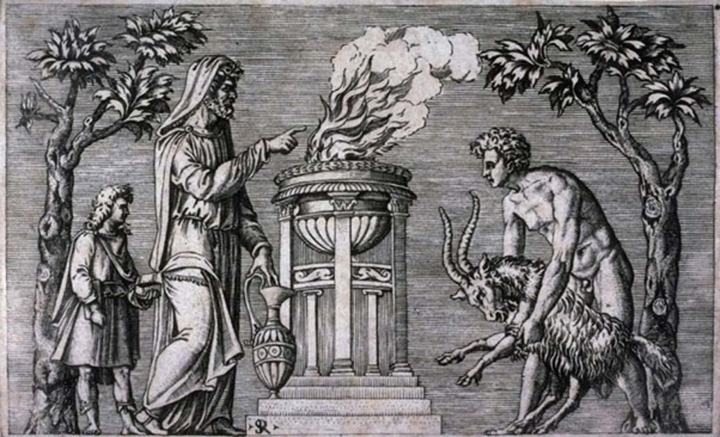 Sacrificio de un macho cabrío, de la serie de grabados 'Antiguos bajorrelieves'. (Museo de Bellas Artes de San Francisco)