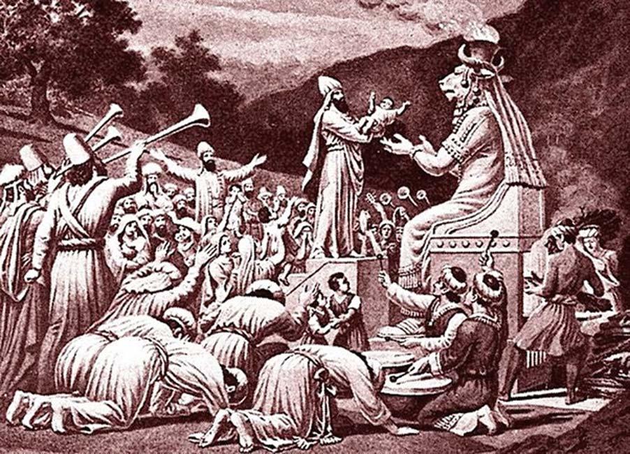 Los seguidores de Moloc sacrificaban niños al ídolo. Fuente: Jonund/Dominio público.