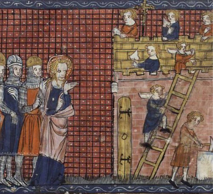 San Valentín de Terni y sus discípulos. París, siglo XIV. Public Domain