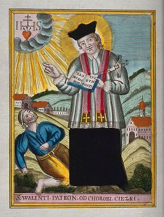 San Valentín bendiciendo a un epiléptico. (Wellcome Images/ CC BY 4.0)