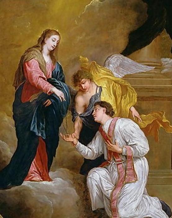 San Valentín de rodillas. David Teniers III (dominio público)