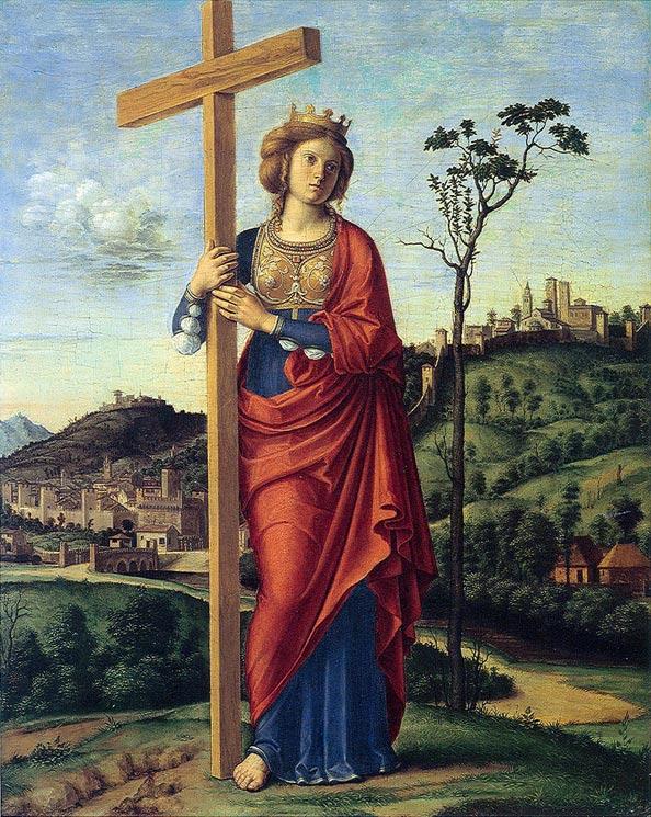 Elena de Constantinopla (1495). Óleo de Cima da Conegliano. (Wikimedia Commons)
