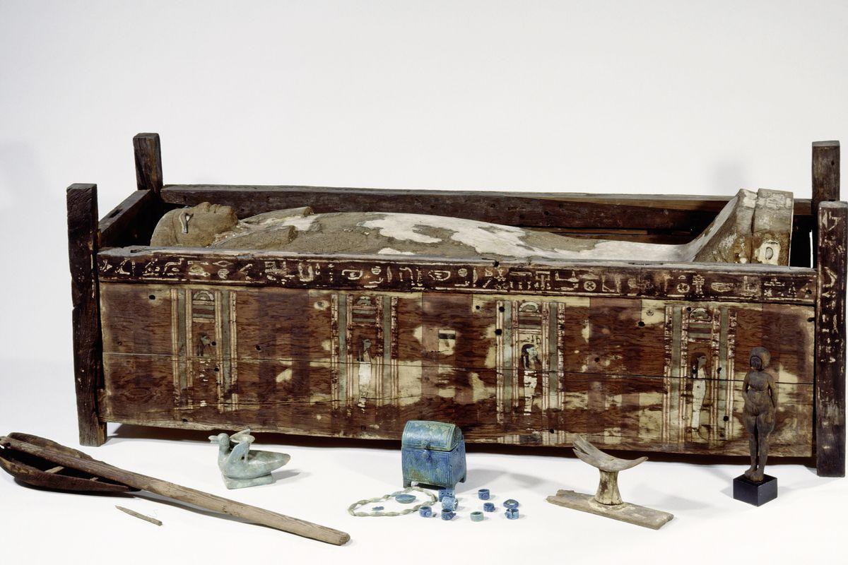 Sarcófago de Tadja, Abusir el-Meleq. Fotografía: Sandra Steiss / Museo Egipcio de Berlín